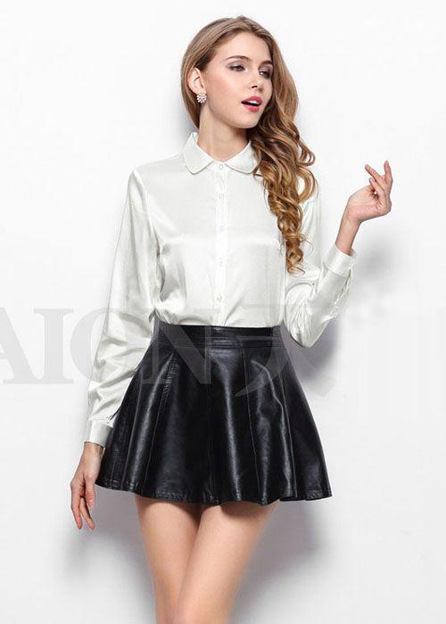 Silk Blouse Skirts Pinterest Silk And Satin