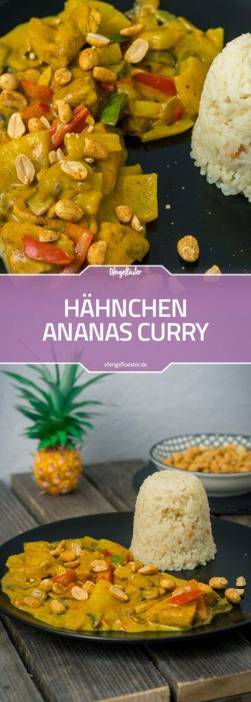 Hähnchen Ananas Curry #rezept #curry #ananas