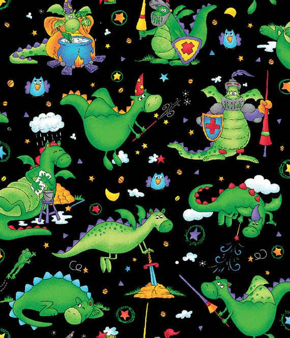 17 best images about fired up over dragons on pinterest for Dragon fabric kids