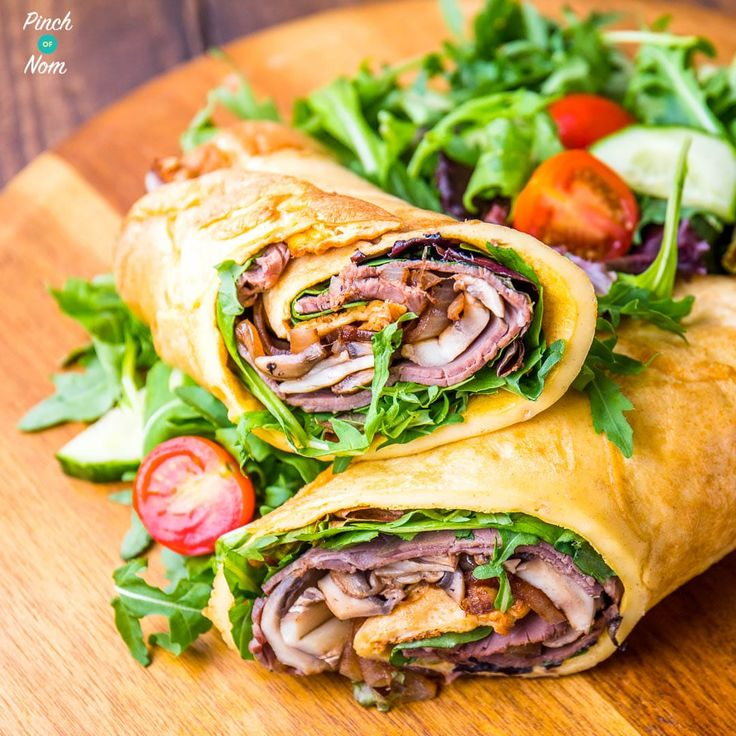Yorkshire Pudding is the best thing to have with a Slimming World Sunday Roast! This Low Syn Yorkshire Pudding Wrap makes the perfect lunch, dinner or tea!