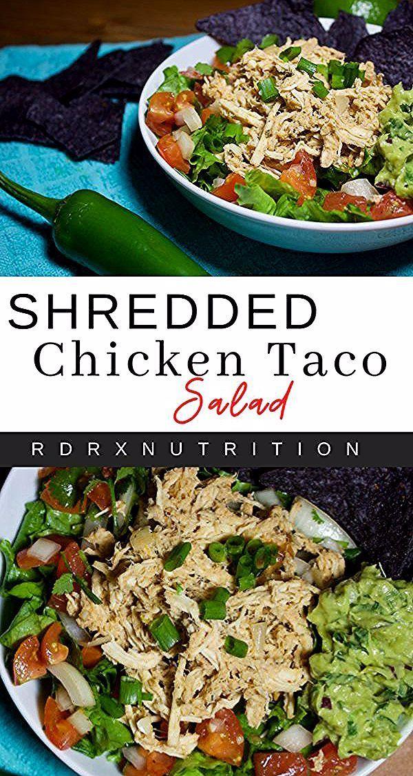 A shredded chicken taco salad recipe. Healthy chicken salad recipes. #shreddedchickenrecipes #chickensalad #saladrecipes #tacosalad #healthysalads #shreddedchickentacos A shredded chicken taco salad recipe. Healthy chicken salad recipes. #shreddedchickenrecipes #chickensalad #saladrecipes #tacosalad #healthysalads
