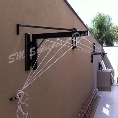 varal dobravel  parede /muro até  6m -ideal p/ area externa