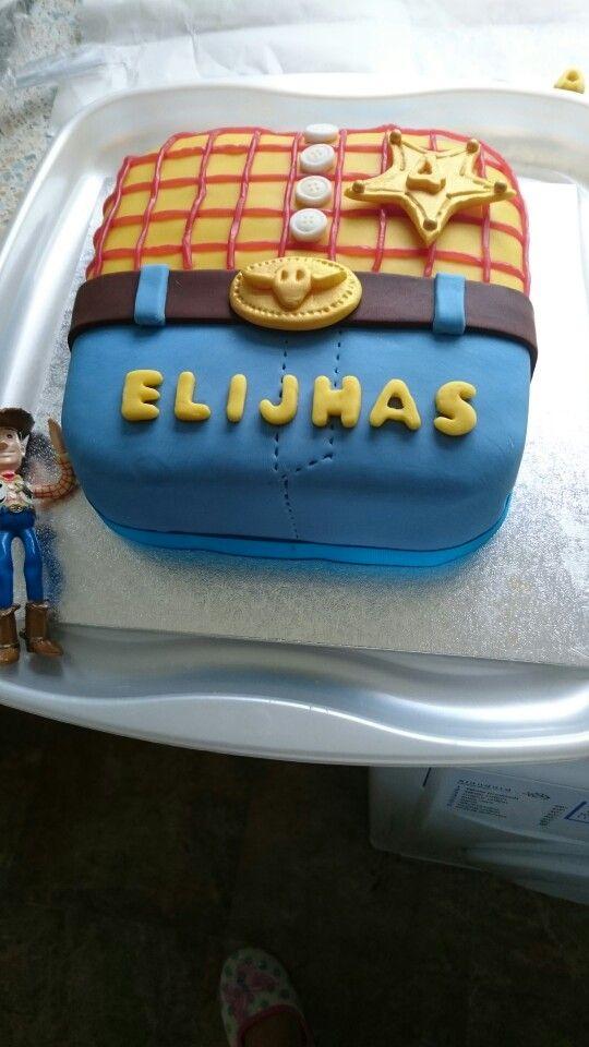 Woody Toy Story square fondant birthday cake