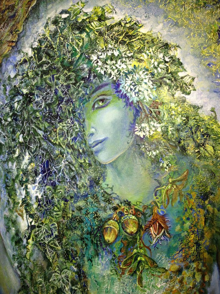 """""""Spirit of the Forest (zoom)"""" par Josephine Wall"""