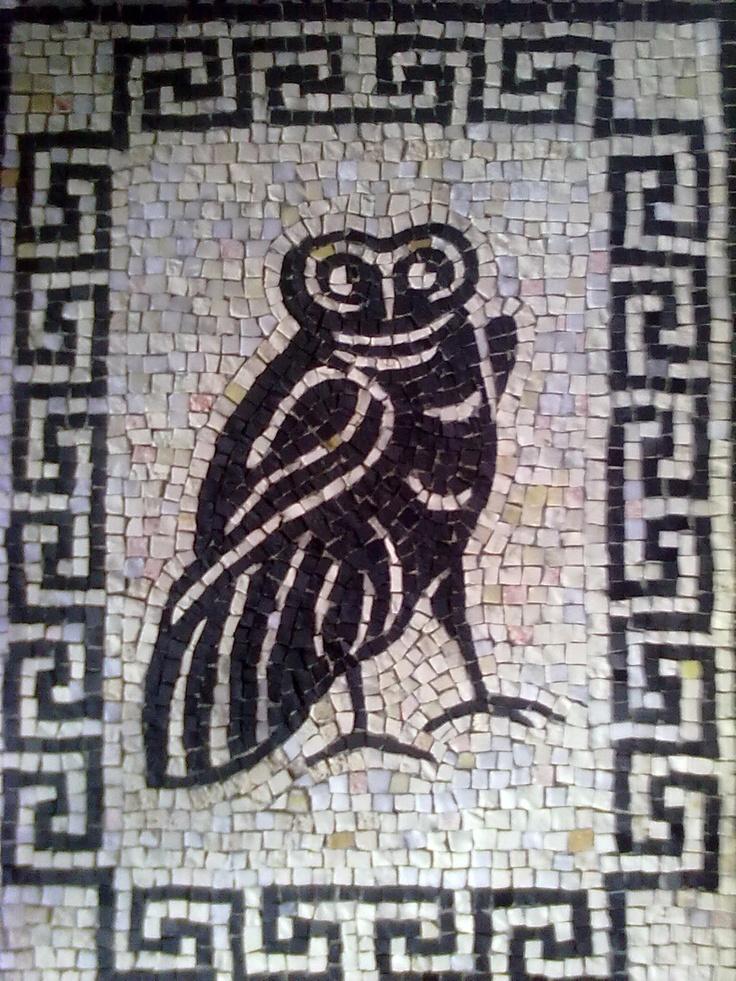 La civetta riproduzione di un mosaico pavimentale romano for Mosaico romano