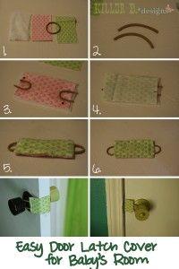 door-latch-cover: great baby shower gift idea