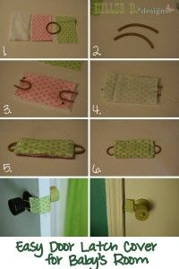 door-latch-cover: great baby shower gift idea