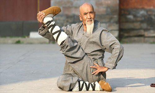 Martial arts stretches