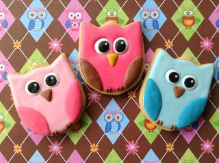 Corujas, cookies, biscoitos decorados | by Cookie Design