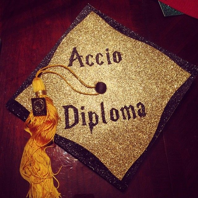 Accio Diploma, perfect for the book lover | Graduation Cap ideas |