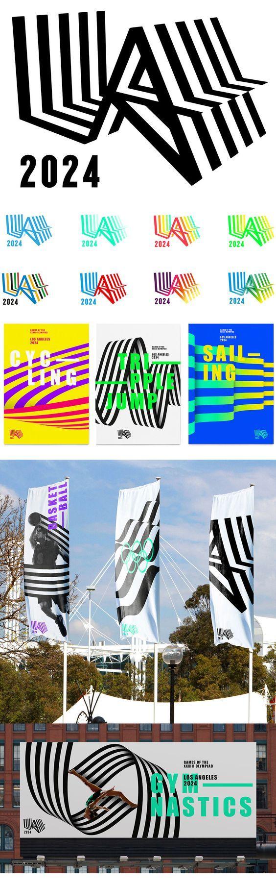 LA 2024 Olympics Bid #graphic #design #identity