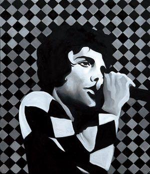 Sound#8, oil on canvas, 53.0×45.5, 2013, for Freddie Mercury