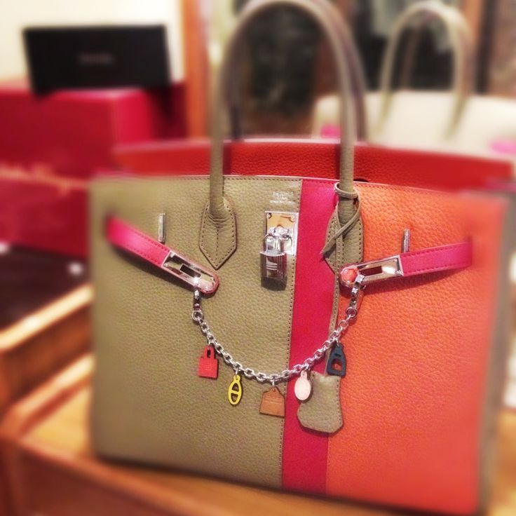 mybag #hermes #birkin 35 casaque with hermes multicolor leather ...