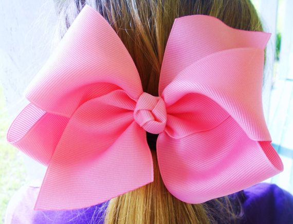 "4 Extra Large 5"" Boutique Hair Bow Twisted Boutique Big Bow Birthday Princess Pageant Gift Set School Hair Bows Photo U Choose Colors on Etsy, £17.09"