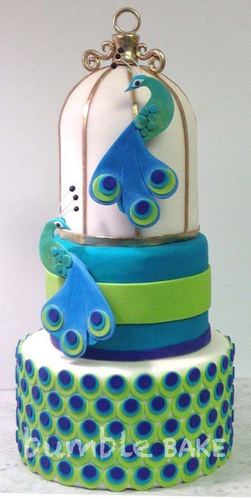 Best Peacock Cake Images On Pinterest Peacock Cake Peacock - Peacock birthday cake