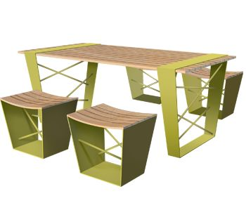 recycled oak barrel furniture - Furniture : Shades of Green Landscape  Architecture
