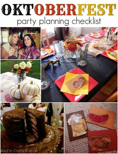 Oktoberfest Party Planning Checklist! - Mad in Crafts