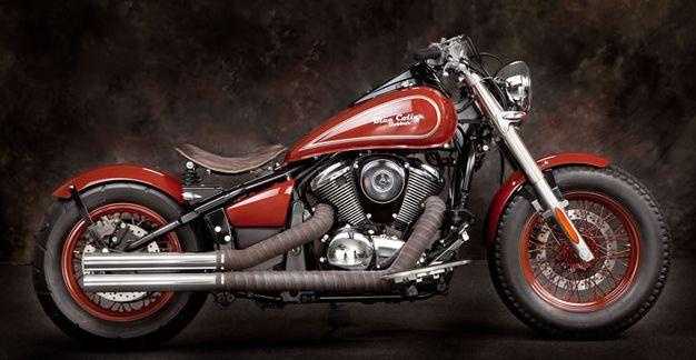 red bobber | Honda Shadow 750 Aero Red And Black Bobber Motorcycle | USA Bobbers