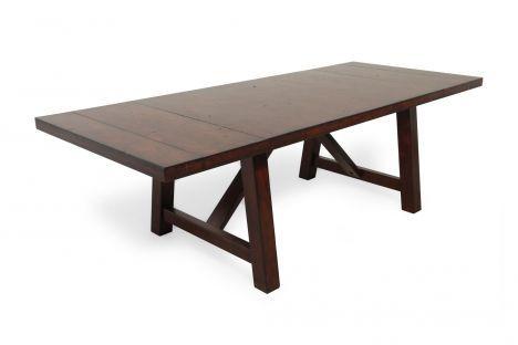LCF 9440 222 Legacy Woodland Ridge Trestle Table Mathis Brothers Furnitur