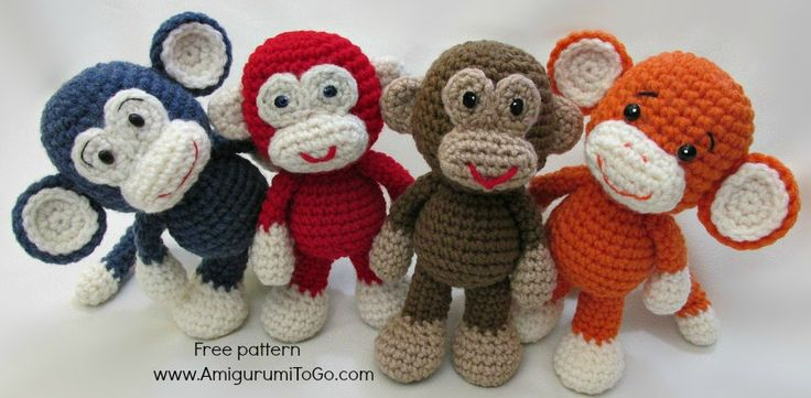 "Tuto Amigurumi : singe - Tout sur le crochet et les ""Amigurumis""!"