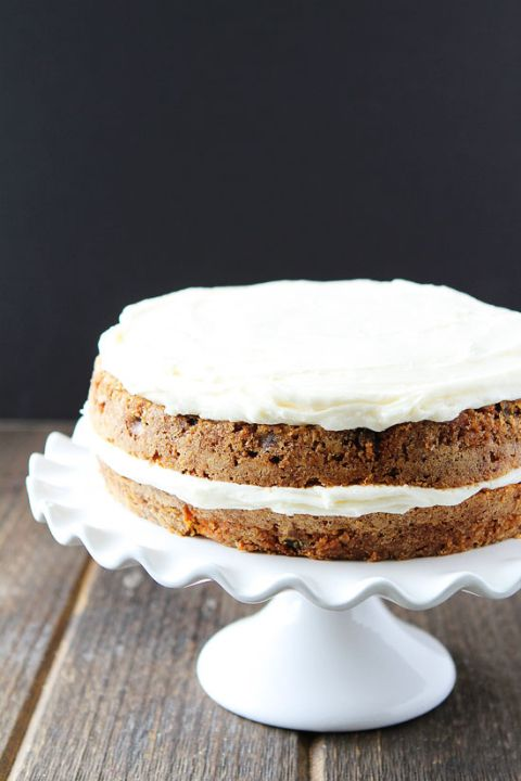 Carrot Cake Recipe on twopeasandtheirpod.com This easy carrot cake is SO good! It is perfect for Easter dessert!