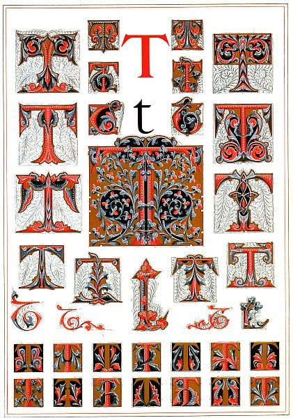 A Master's Illuminated Alphabet - Tartuffe's Folly