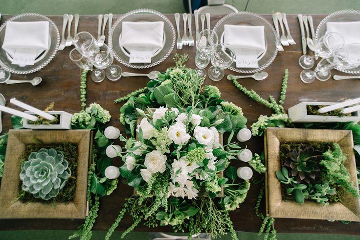 Mesa dos noivos decoração