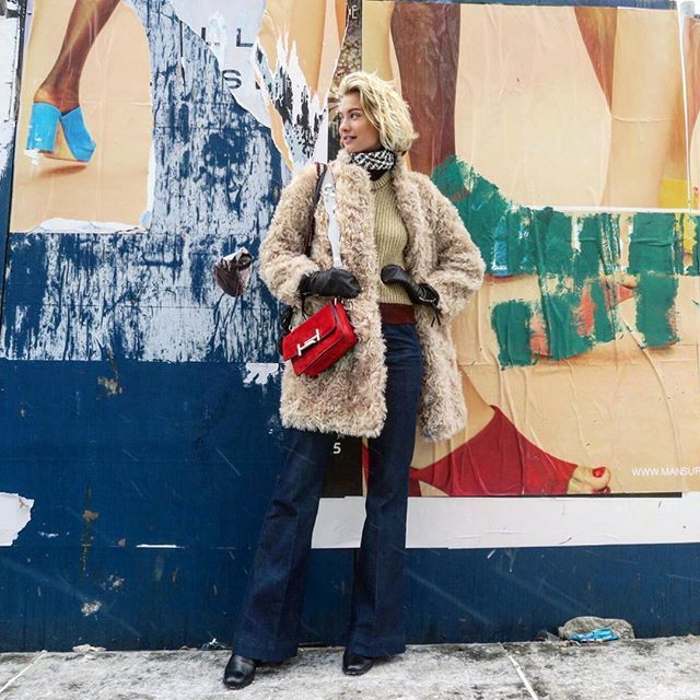 31 Perfect Looks To Copy This March #refinery29  http://www.refinery29.com/2016/03/103166/new-outfit-ideas-march-2016#slide-31  A teddy coat comes in handy on chillier days, letting you keep the rest of your look super simple. Tommy Hilfiger pants, Marimekko jacket, Tods bag, Yvonne Koné gloves....