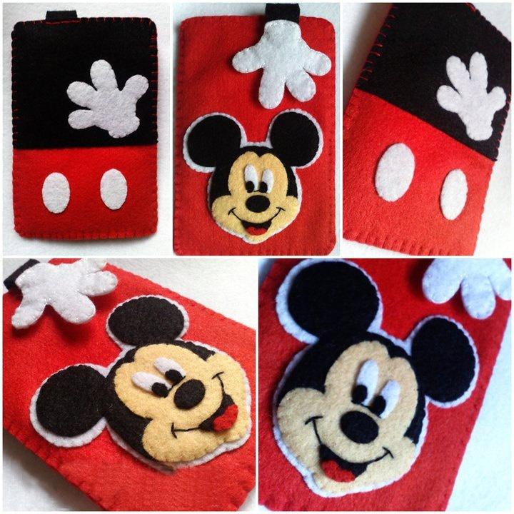 Disney Mickey hoesje Zelf creaties van vilt maken? Kijk voor vilt eens op http://www.bijviltenzo.nl