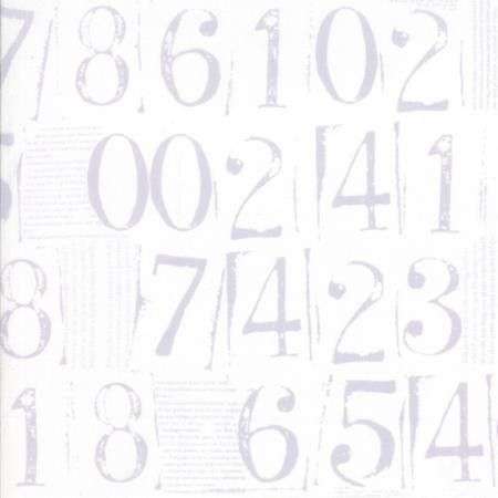 """""""Figures Numbers in Vaper"""" by Zen Chic from the collection """"Figures"""". Available at www.pinkcastlefabrics.com."""