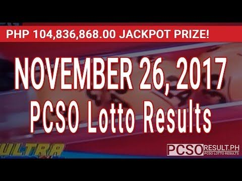 PCSO Lotto Results Today November 26, 2017 (6/58, 6/49, Swertres & EZ2) - (More info on: https://1-W-W.COM/lottery/pcso-lotto-results-today-november-26-2017-6-58-6-49-swertres-ez2/)