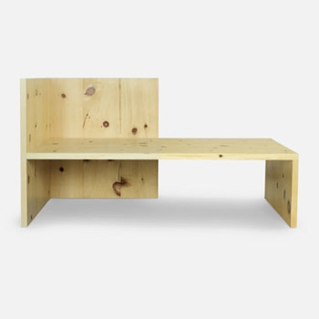 """""""The furniture is comfortable to me. Rather than making a chair to sleep in or a machine to live it, it is better to make a bed. A straight chair is best for eating or writing. The third position is standing."""" Donald Judd"""