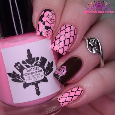 33 best nail art washi tape images on pinterest nail art make polish and paws nail art brown and pink whencolorscollide prinsesfo Image collections