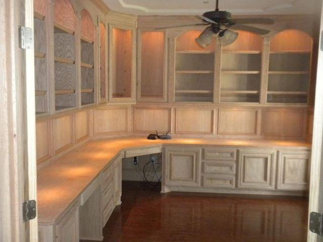 Custom, Computer Desk, Remodeling, Home Office, Remodel, Lighting, Cabinets,