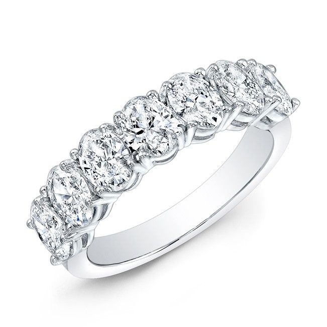 You Are Looking At Our Ladies Classic Style Oval Shape Diamond Wedding Band Shown In White Gold This Comes With Carats Total Weight Of