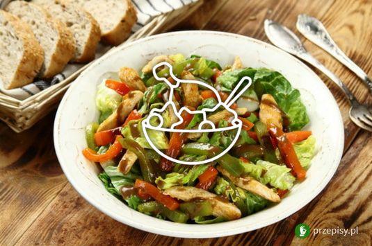 Sałatka na ciepło z kurczakiem #salad #chicken #pepper
