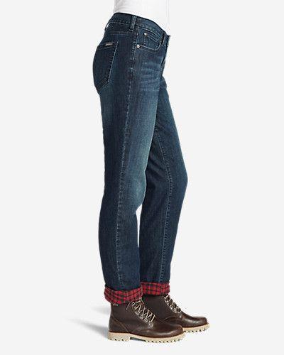 Women's Boyfriend Flannel-lined Jeans | Eddie Bauer