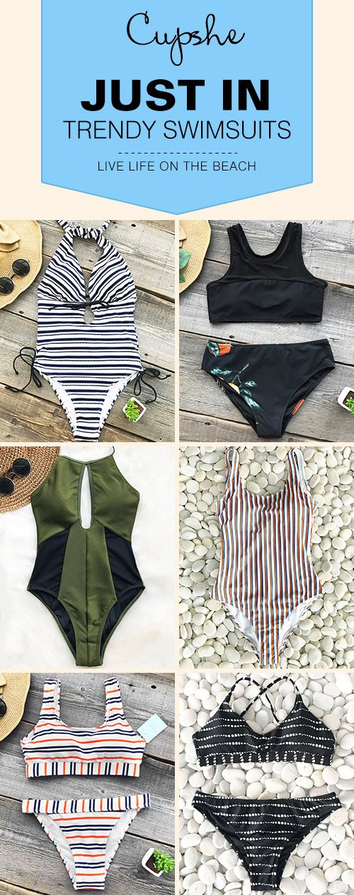 New Arrivals! Pick up these chic fantastic beach wears~ Various bathing suit styles include: one-piece, halter design... Have some fun in the sun with them! FREE shipping ~ SHOP NOW!
