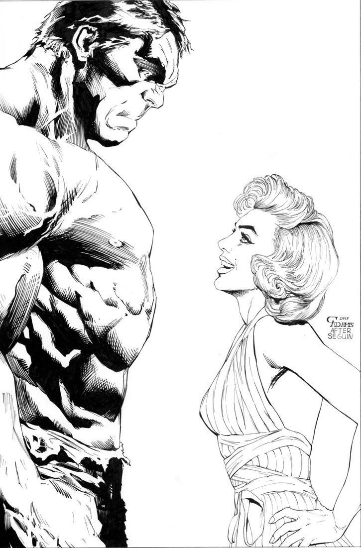 #Hulk #Fan #Art. (Hulk and Marilyn commission) By: Camadams0925. ÅWESOMENESS!!!™ ÅÅÅ+