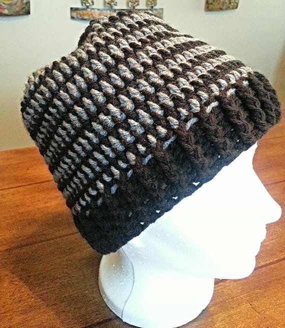 Hand Crocheted Unisex Winter Hat. Warm and cozy by KardeyosDesigns