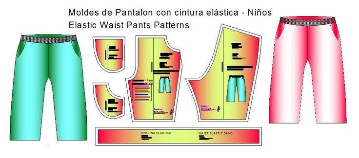 Patrones de pantalon de bebe con elastico en cintura