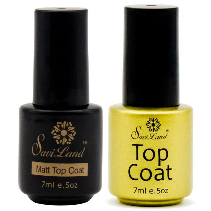 Saviland Soak Off Gel Nail Polish Matte Top coat Base Gel Top Coat UV/LED Nail Art Gel Polish Clear UV Glue Varnishes