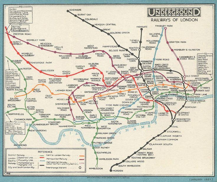 London Underground map 1927