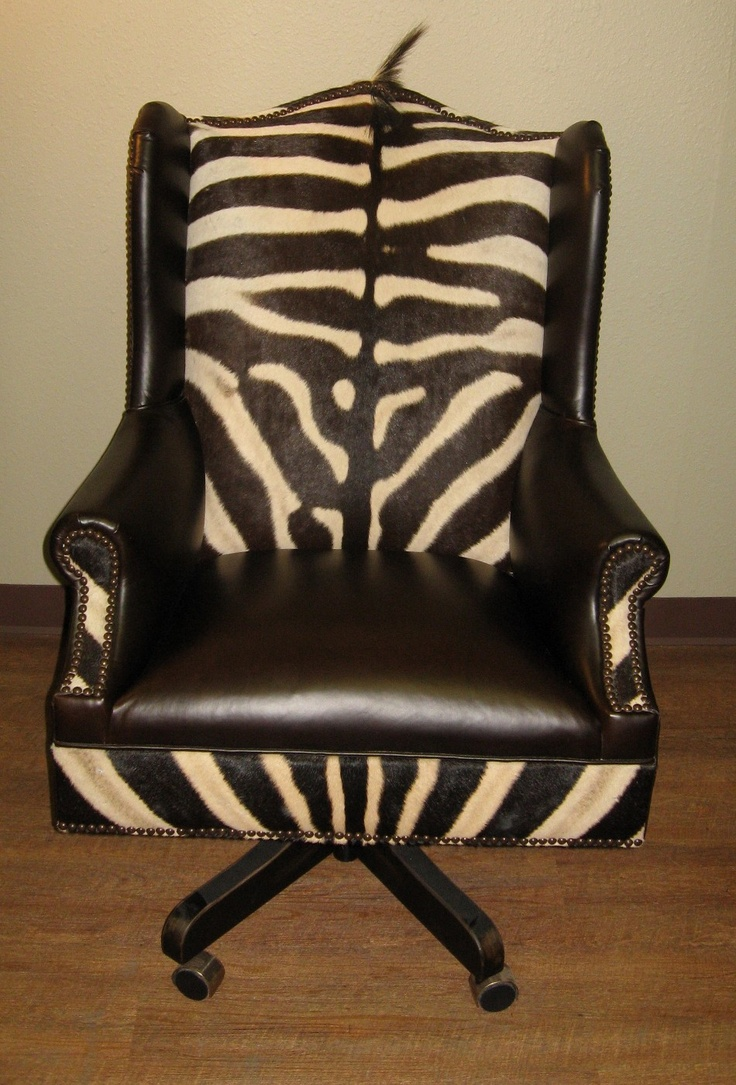 Zebra Skin Office Desk Chair African American Office