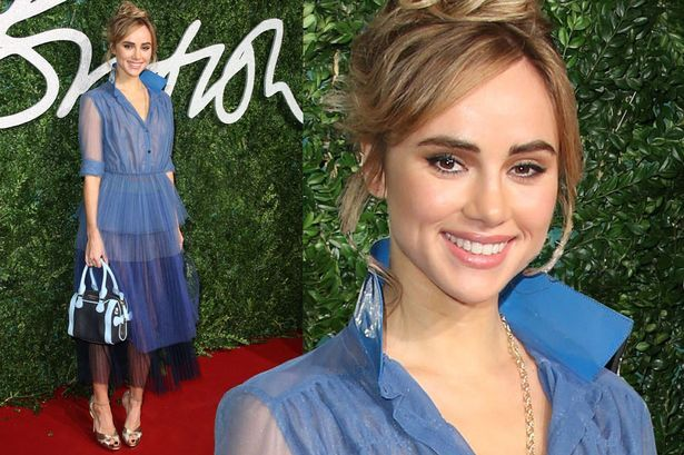 Suki Waterhouse, sheer dress, British Fashion Awards 2014