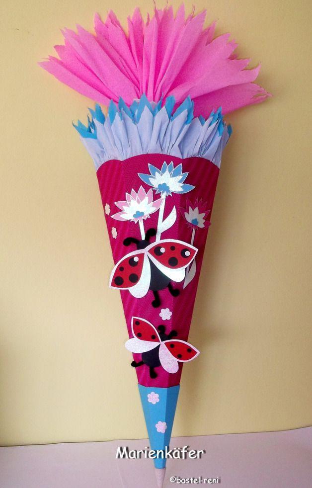 Schultüten - Bastelpackung  Hier habe ich eine total süße Schultüten-Bastelpackung:   *- Marienkäfer pink -*  Der Preis bezieht sich auf ein Bastelset. Alle Bastelsets werden von mir selber...