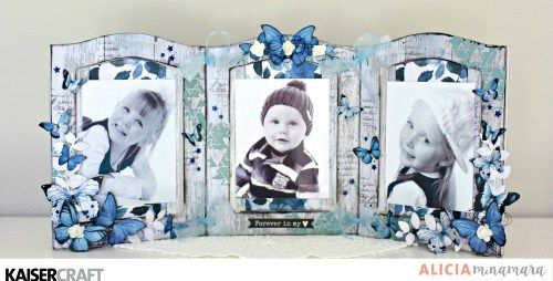 'Photo Frame and Video' Beyond the Page Project by Alicia McNamara Design Team Member for Kaisercraft using their 'Indigo Skies' collection. [April 2017] Learn more at kaiserccraft.com.au/blog ~ Wendy Schultz ~ Beyond the Page Projects.