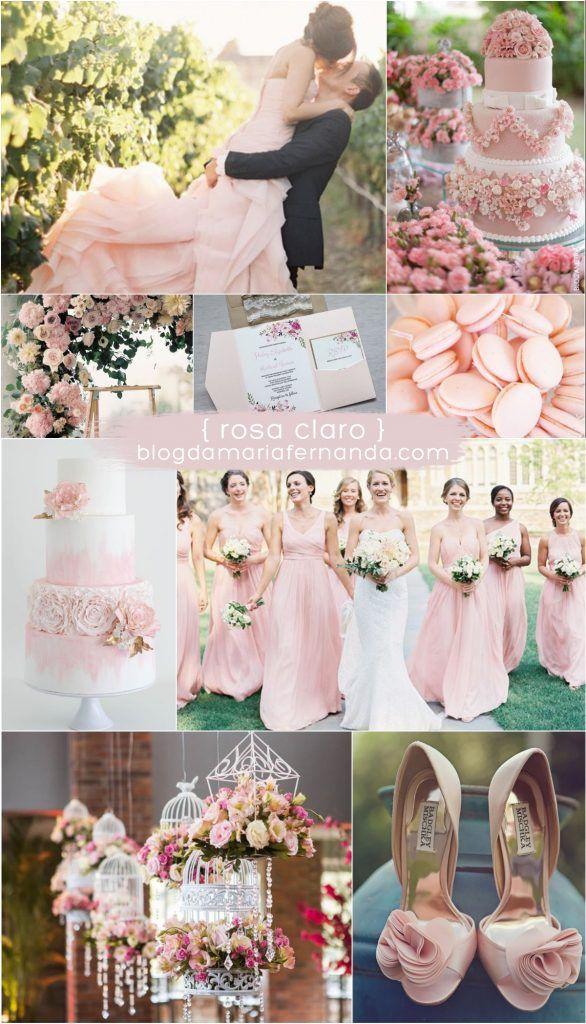 Decoração de Casamento : Paleta de Cores Rosa Claro