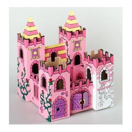 Palais des roses en carton à assembler et à colorier, avec 12 feutres