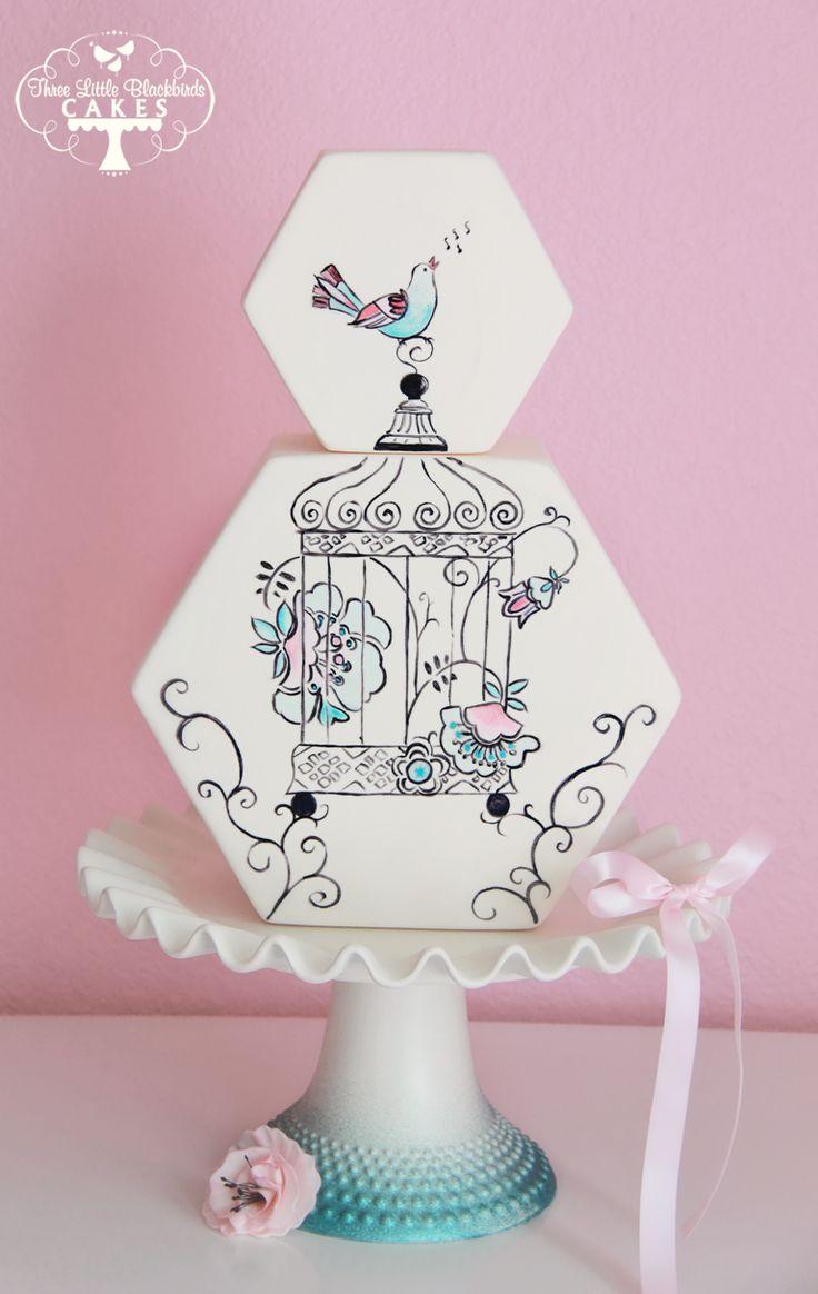 1000  ideas about lavender hexagon wedding cakes on pinterest